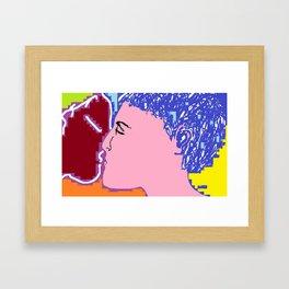 250615 12:23 The Kiss 01 Framed Art Print