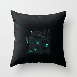House of Jellyfish Throw Pillow