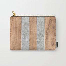 Wood Grain Stripes Concrete #347 Carry-All Pouch