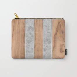 Striped Wood Grain Design - Concrete #347 Carry-All Pouch