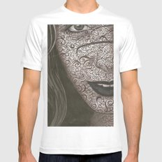 Face  MEDIUM White Mens Fitted Tee