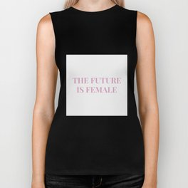 The future is female white-pink Biker Tank