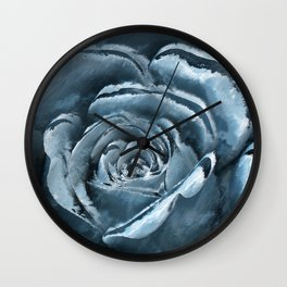 The blue rose Wall Clock