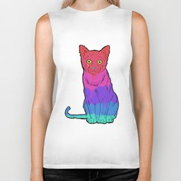 Graffiti Cat Biker Tank