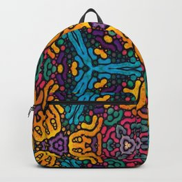 grubby colors kaleidoscope pattern Backpack