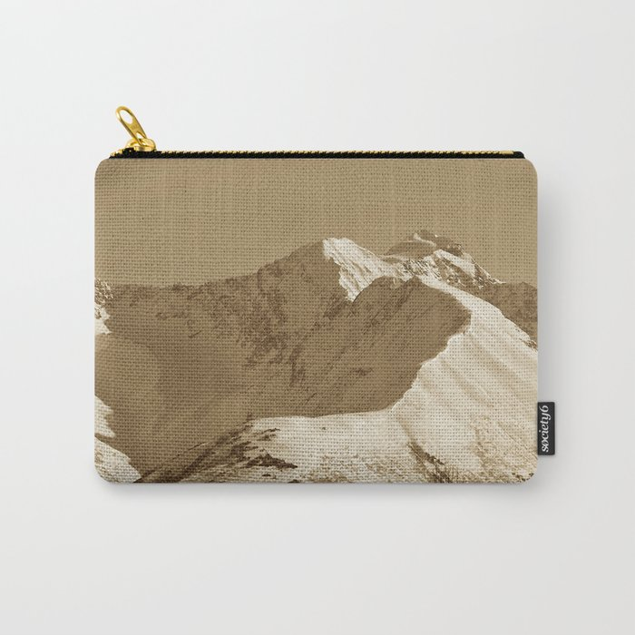 Majestic Mountain - Sepia Carry-All Pouch