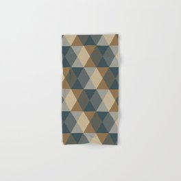 Caffeination Geometric Hexagonal Repeat Pattern Hand & Bath Towel