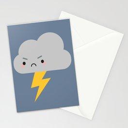 Kawaii Thunder & Lightning Cloud Stationery Cards