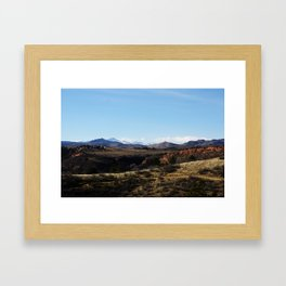 Horsetooth Trail Rocky Mountains Fort Collins Colorado Color Photo Framed Art Print