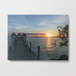 Sunset in Africa Metal Print
