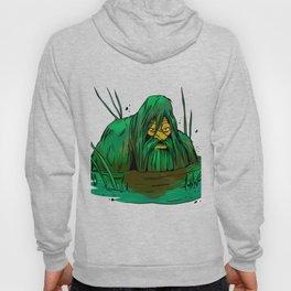 Bigfoot  creeping in swamp Hoody