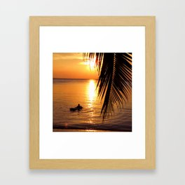 Island sunset relaxation Framed Art Print