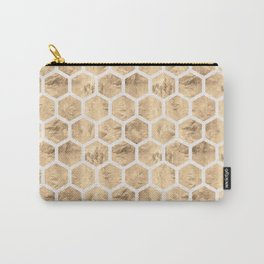 HoneyComb (Sand) Carry-All Pouch