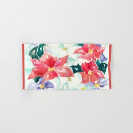 Poinsettia Cheer Hand & Bath Towel