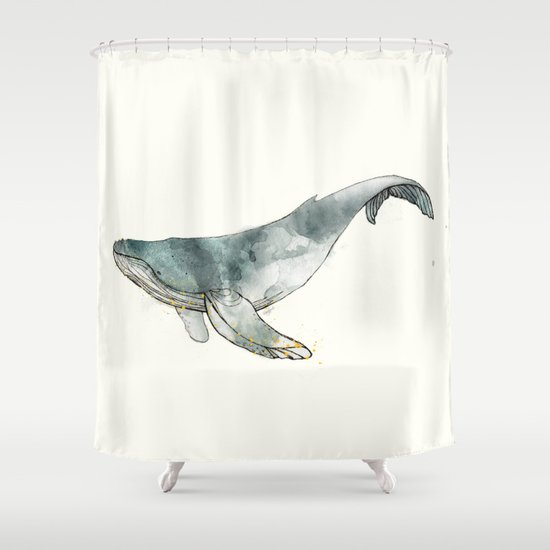 Humpback Whale Shower Curtain by amyhamilton