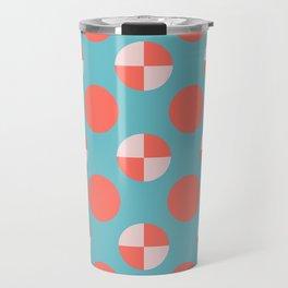 Blushed Coral Dots Travel Mug
