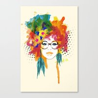 dreamer Canvas Prints featuring Dreamer by PositIva