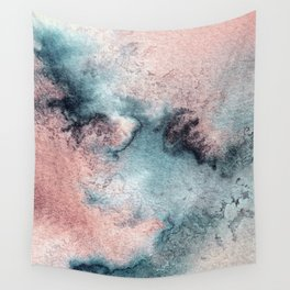 Pink and Blue Oasis Wall Tapestry