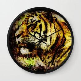 Wild Tiger Artwork Wall Clock