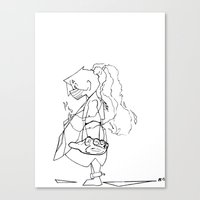 soldier Canvas Prints featuring Soldier by Okes