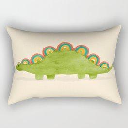 Rainbow colored dinosaur (stegosaurus) Rectangular Pillow