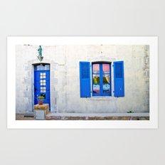 Mediterranean holiday house. Art Print