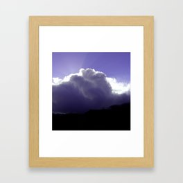Sun and Clouds Framed Art Print