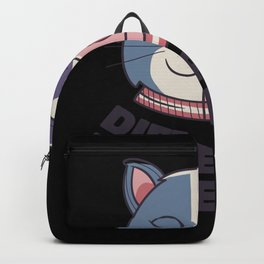Different but equal cat and cow half faced Backpack