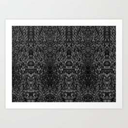 Shades of grey glasslite brick Art Print