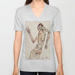 "Egon Schiele ""The Dancer"" Unisex V-Neck"