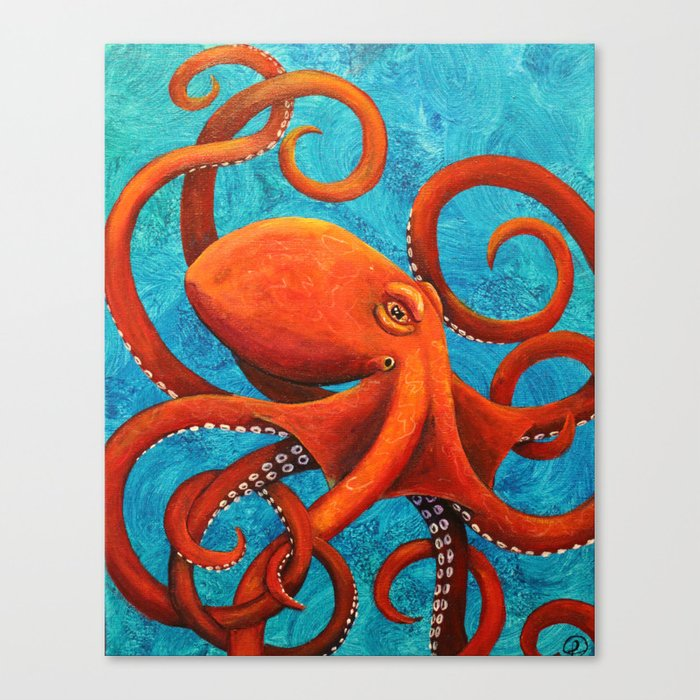 Holding On - Octopus Leinwanddruck