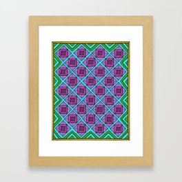 Squares in Diamonds Framed Art Print
