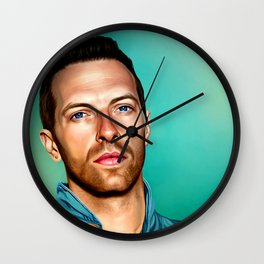 Blue Eyes Wall Clock