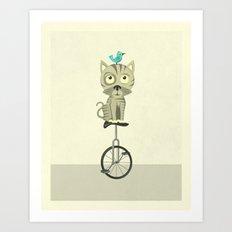 Balancing Cat Art Print