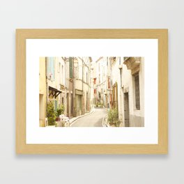 French Old Town Framed Art Print