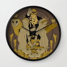 Serpentes Emesis (Rotten Yellow) Wall Clock