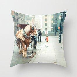 Montreal Taxi Throw Pillow