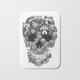 Skull from raccoons Bath Mat