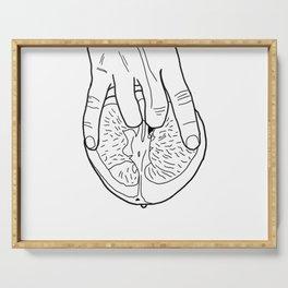 Deceptive Love - Sketch Art Serving Tray
