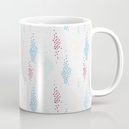 1980s Style Spots and Dots Pattern Coffee Mug