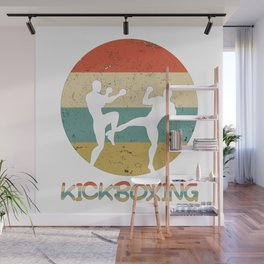 Kickboxing Vintage Gift for Martial Arts Fighters And Kickboxer Wall Mural