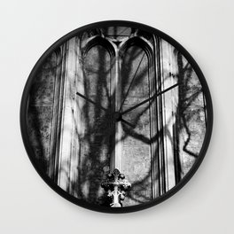 Church Windows St Peters Basilica Black and White Photo by Larry Simpson Wall Clock
