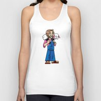 manga Tank Tops featuring Manga Jesus by David Kryn