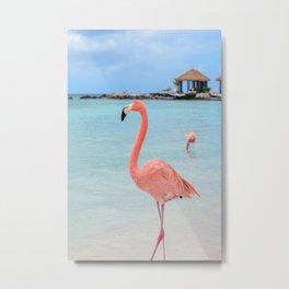 Lone Flamingo Metal Print