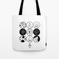 circles Tote Bags featuring Circles by LSjoberg