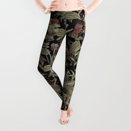 Dark Botanical Stravaganza Leggings