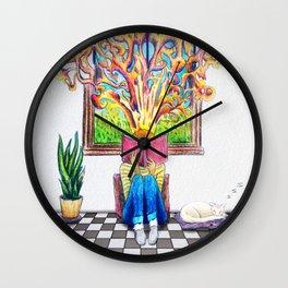 Book Window Wall Clock
