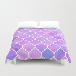 Pink and purple glass Moroccan print Duvet Cover