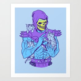 Masters of the Meowniverse Art Print