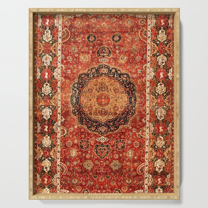 Seley 16th Century Antique Persian Carpet Print Serving Tray